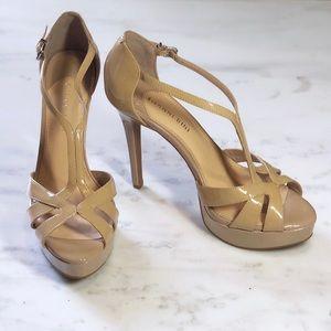 Tan Nude Platform Gianni Bini Pageant Formal Heels